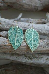 Oorbellen Leaf green