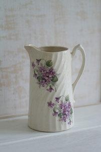 Kan met lila bloemen *Verkocht*
